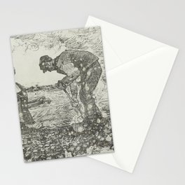 Burning Weeds The Hague, July 1883 Vincent van Gogh (1853 - 1890) Stationery Cards