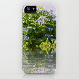 Hydrangea on Lavender iPhone Case