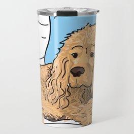 Cute Tan Cocker Spaniel Illustration Travel Mug