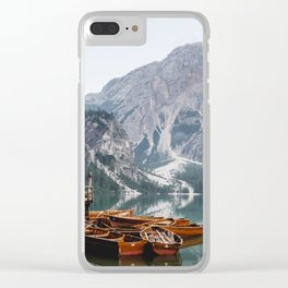 Day at the Mountain Lake Clear iPhone Case