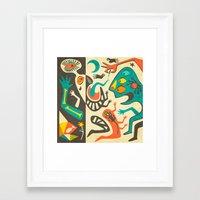 lsd Framed Art Prints featuring LSD by Jazzberry Blue
