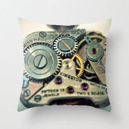 Mechanical Watch Movement - Kingston Throw Pillow