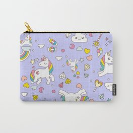 Unicorn Lilac Pattern Carry-All Pouch