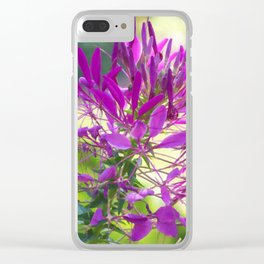 Floral Print 036 Clear iPhone Case