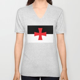 Knights Templar Flag Unisex V-Neck
