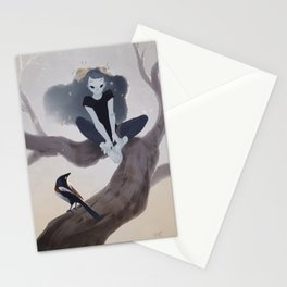 Ghost and magpie Stationery Cards