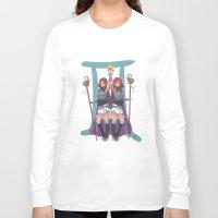 gemini Long Sleeve T-shirts featuring Gemini by Kumiko