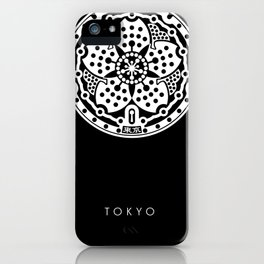 Tokyo Sakura Manhole Cover iPhone Case