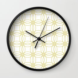 Simply Vintage Link Mod Yellow on White Wall Clock