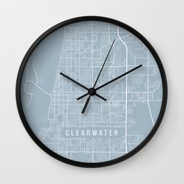Clearwater Map, USA - Slate Wall Clock