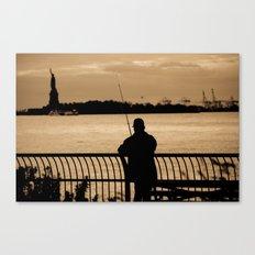 NYC fishing Canvas Print