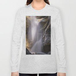 Bolos Waterfall. Sierra Nevada National Park Long Sleeve T-shirt