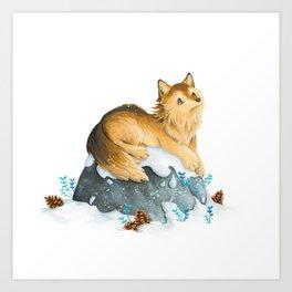 Dreamy Wolf Art Print