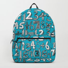math doodle blue Backpack