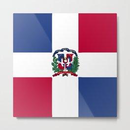Dominican Republic flag emblem Metal Print