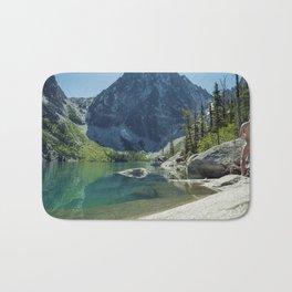Emerald Green Alpine Lake Bath Mat