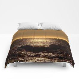 Bronze Sunset Reflection Comforters