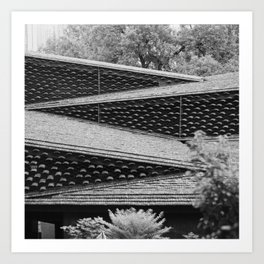 Roofs of Kengo Kuma 2 Art Print