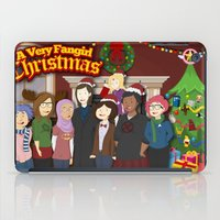 fangirl iPad Cases featuring A Very Fangirl Christmas by Leigh Lahav