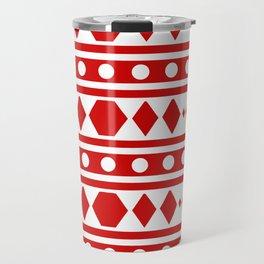 Tribal Red Pattern Travel Mug