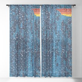 Alma Thomas, African American Portrait, Lucias Unity abstract painting Sheer Curtain