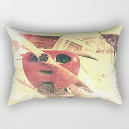 Little Red Biplane // Airplane Rectangular Pillow