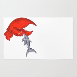 Great White Lobstah Lovah Rug