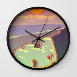 Red Moon Summer Vibrations Wall Clock