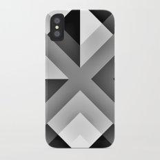 Monochrome Gradient Abstract iPhone X Slim Case