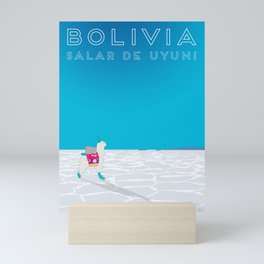 Bolivia Salt Flats Travel Poster Mini Art Print