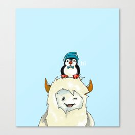 Yeti And Penguin Canvas Print