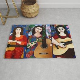 Violeta Parra collage Rug
