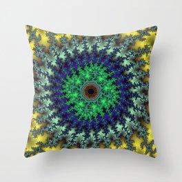 Fractal Target Throw Pillow