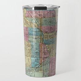 Vintage Map of Chicago (1869) Travel Mug