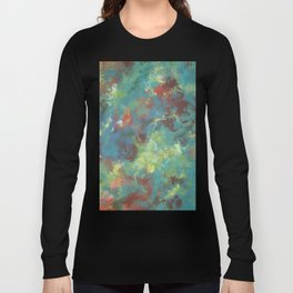 Abstract Pattern in Bluegreen Long Sleeve T-shirt
