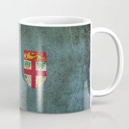 Old and Worn Distressed Vintage Flag of Fiji Coffee Mug