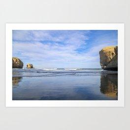 Reflection at the Beach Art Print