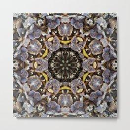 Mushroom Mandala Metal Print