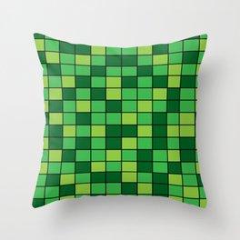 Grass Grid Throw Pillow