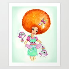 Feathers and Sprinkles Art Print