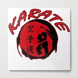 Karate Judo Kung Fu Gift Martial Arts Kickboxing Metal Print