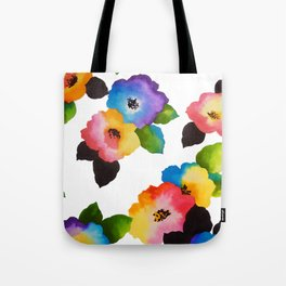 Watercolor Floral Multi Tote Bag