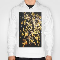gold glitter Hoodies featuring Glitter Gold Yellow Twinkle Stars by Masanori Kai