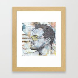 Bono - I Still Haven't Found What I'm Looking For Framed Art Print