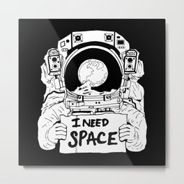 Major Spaceman Metal Print