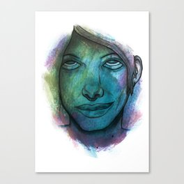 Colourful face Canvas Print