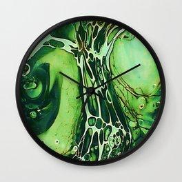 Tint Blot - Cracked Glass Green Wall Clock