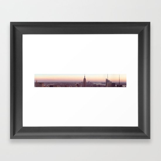 New York City - Manhattan Panorama Framed Art Print