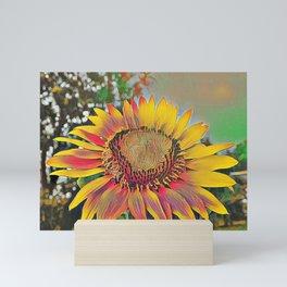 Nontraditional Sunflower Mini Art Print