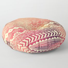 Aztec pattern 01 Floor Pillow